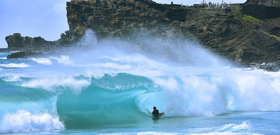 Boogie Boarder on Oahu Hawaii