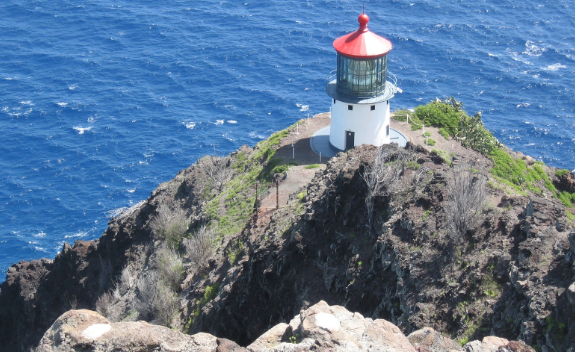 Makapuu lighthouse on Oahu