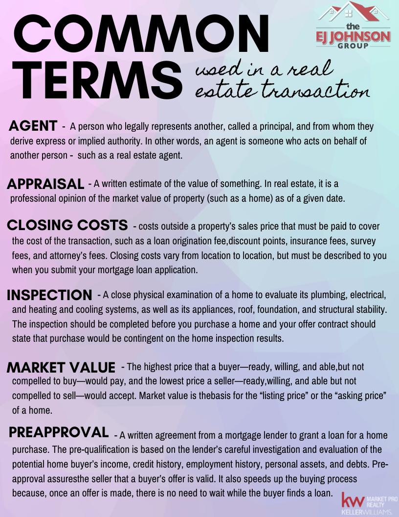 RE Terminology