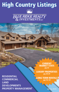 High Country Listings Booklet Front Cover Spring 2020