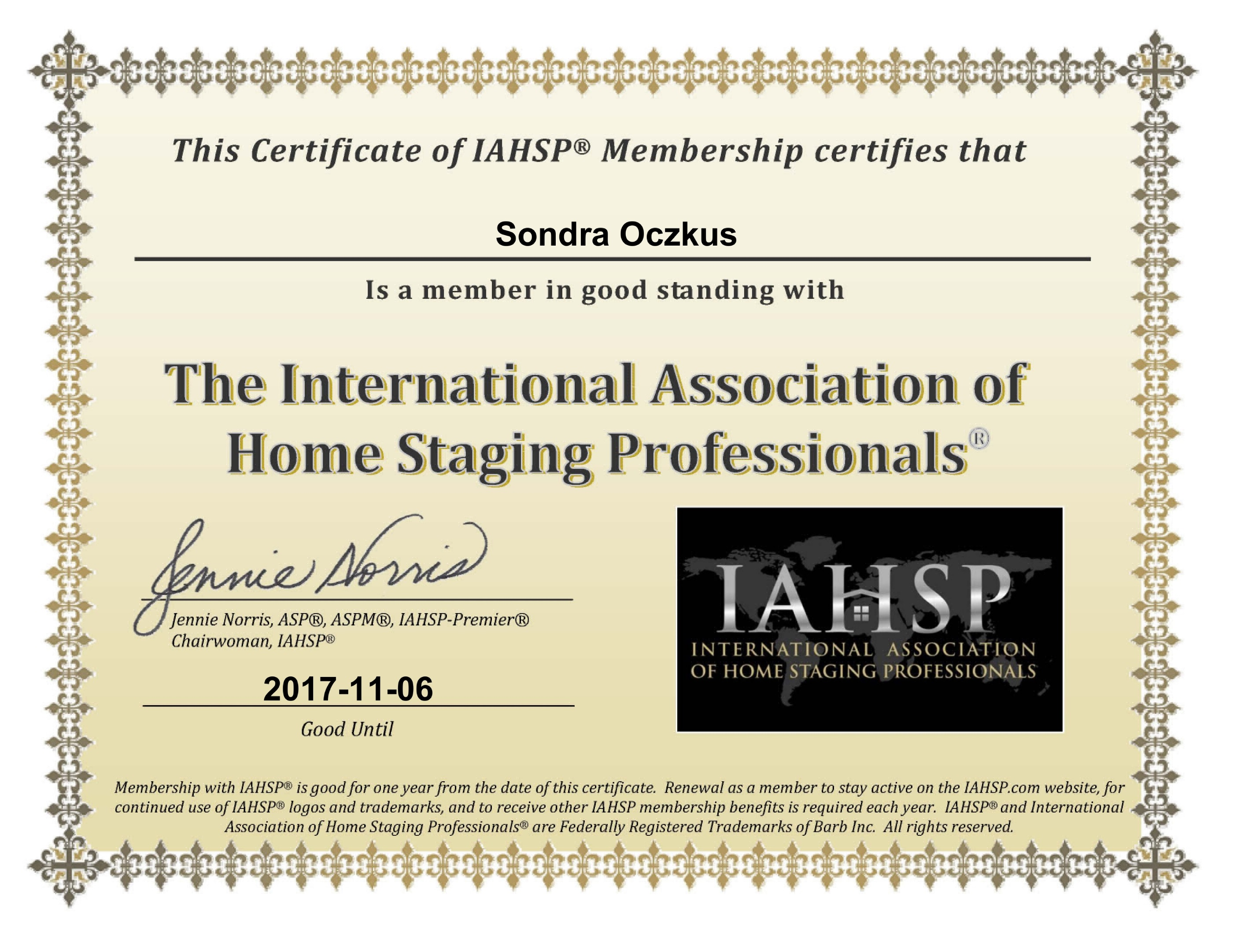 Staging Certificate