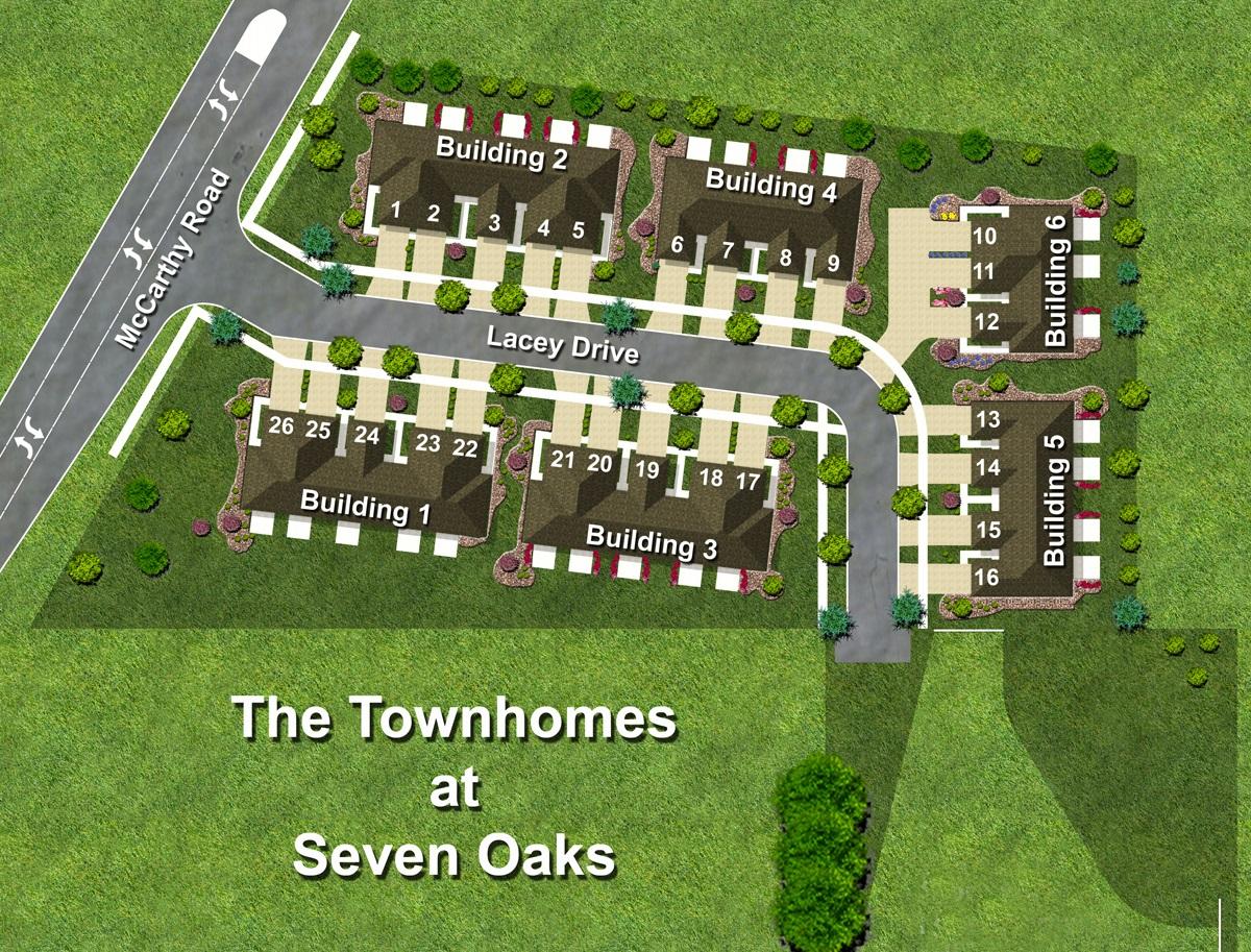 Seven Oaks Townhomes Site Plan