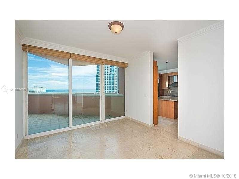 300 S Pointe Dr. #1002 - Room with Balcony with Door of kItchen