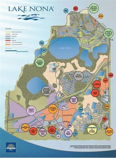 Lake Nona Golf Community Live the Florida Life Style Lake Nona Map on