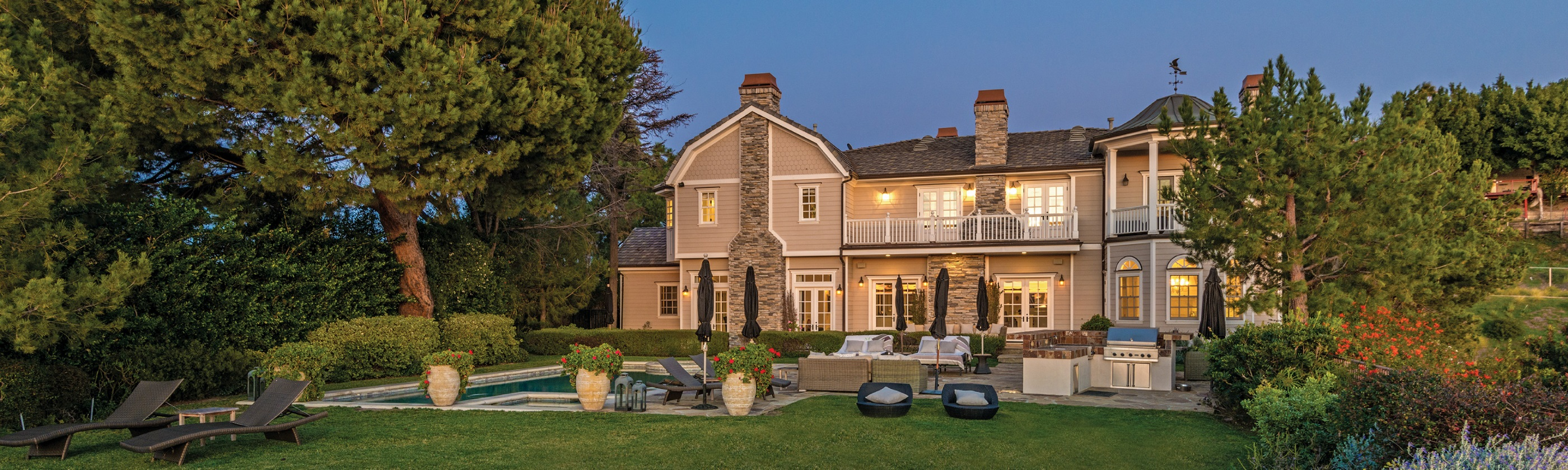 Luxury Estate Backyard