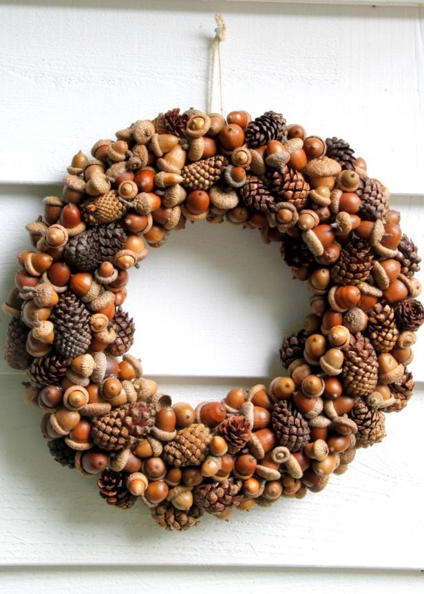 fall foraged wreath