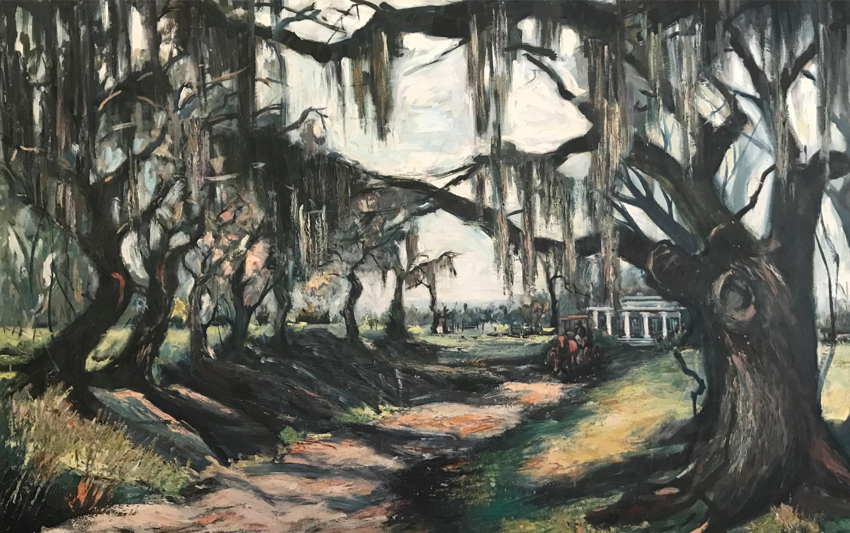 Avenue of Oaks by Selma Shelander