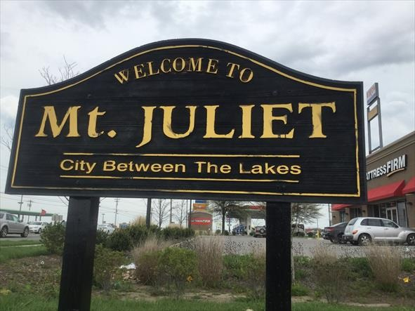 Mt Juliet City Between the Lakes
