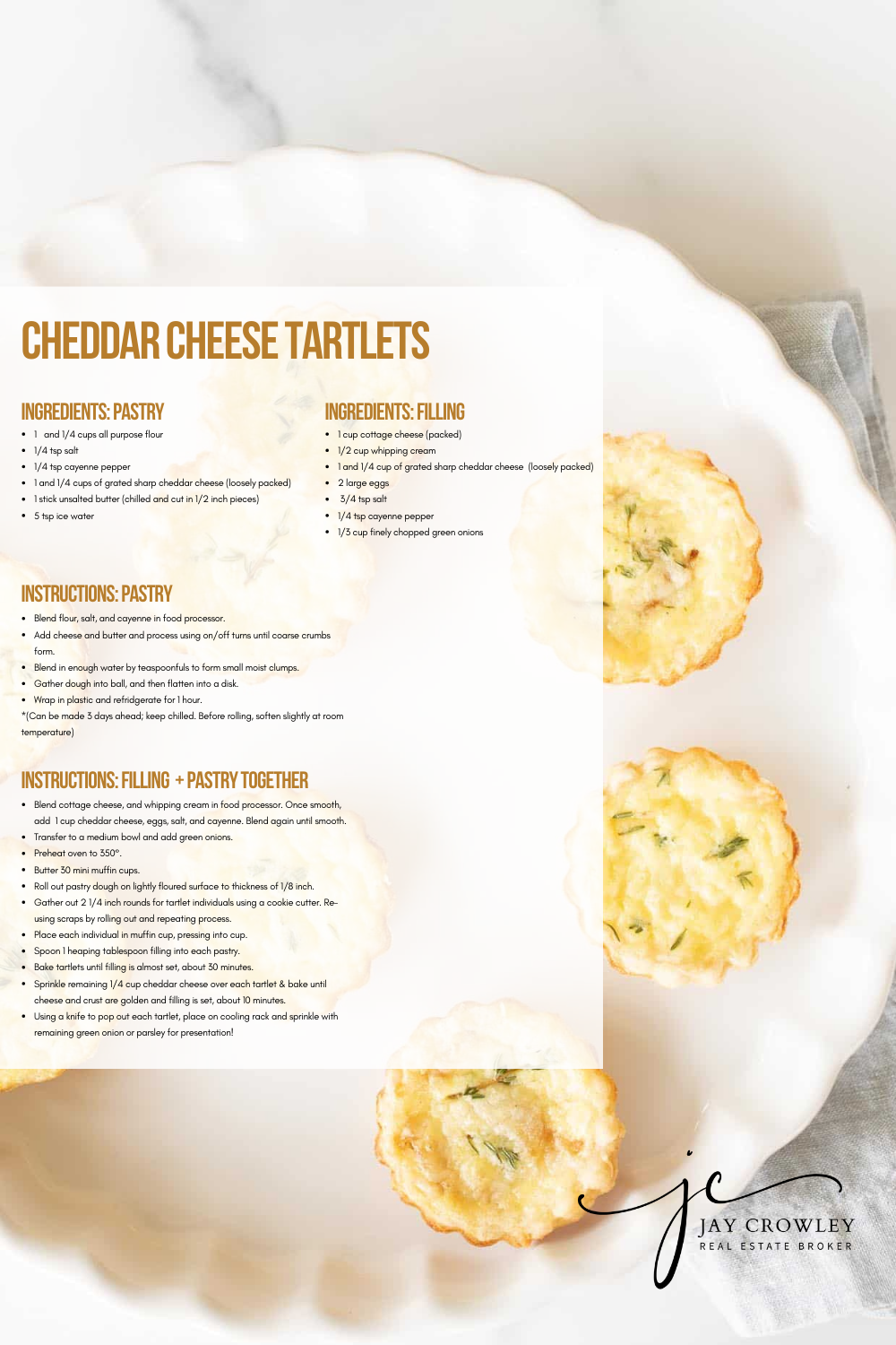 Cheddar Cheese Tartlet Appetizer Recipe