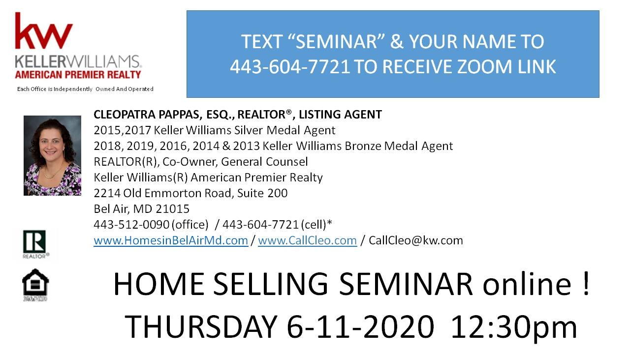 Home Selling Seminar- online!