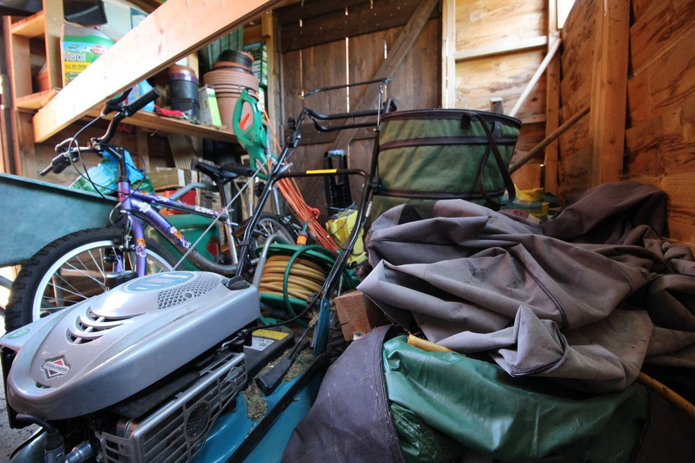 clean out your shed