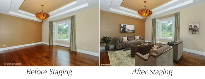 home staging photos before and after