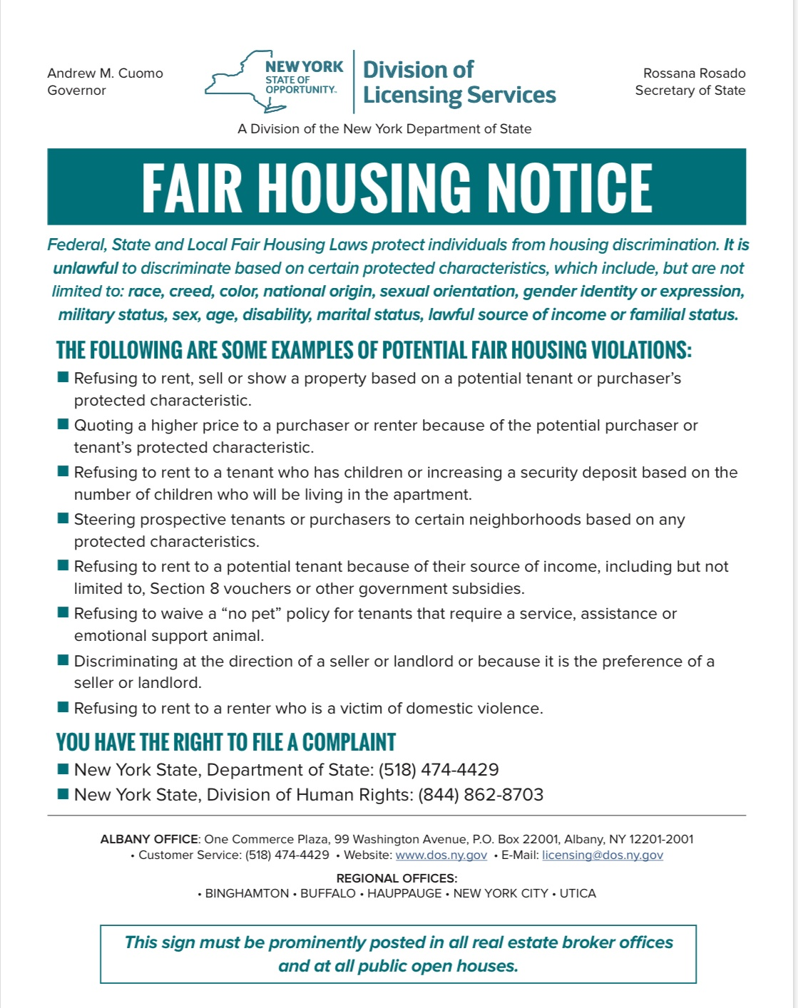 Fair Housing Notice 6-2020