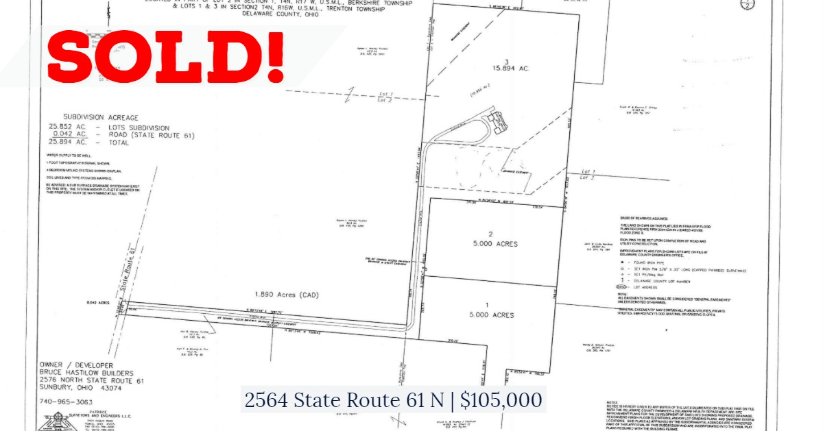 SOLD - 2564 State Route 61 N