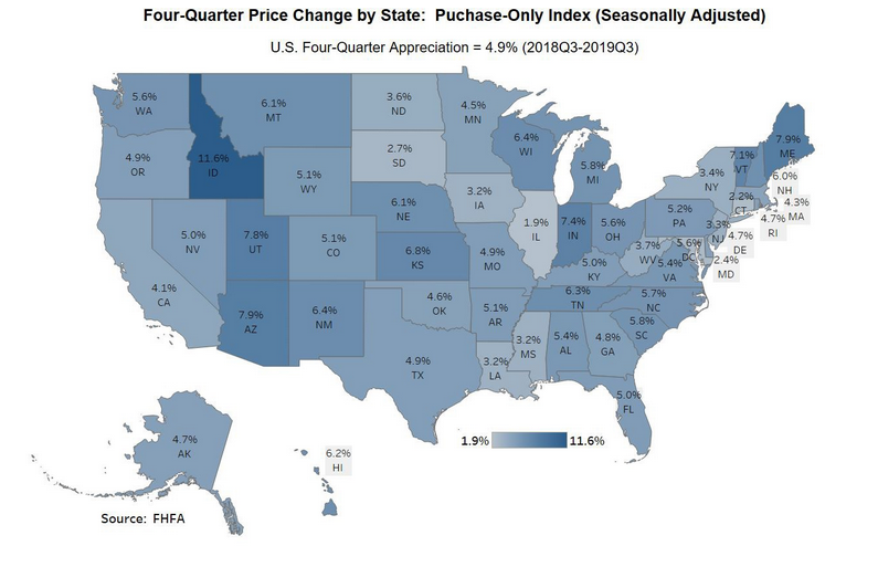Q4 Price change map