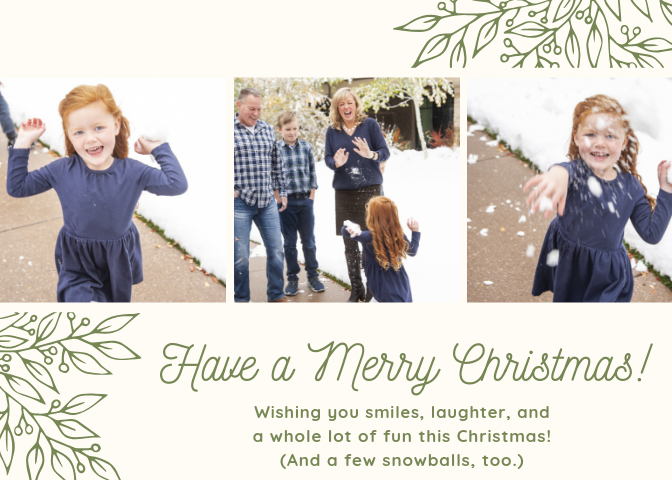 Christmas Card email 2018