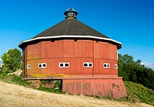 One of two historic round barns.