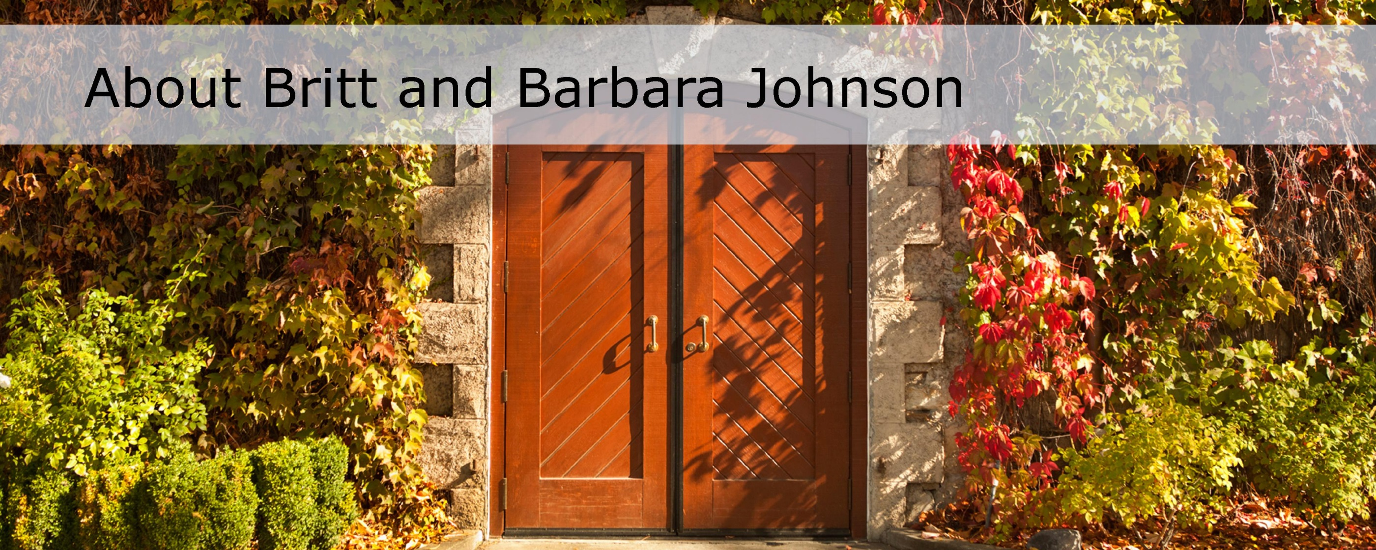 about britt and barbara johnson