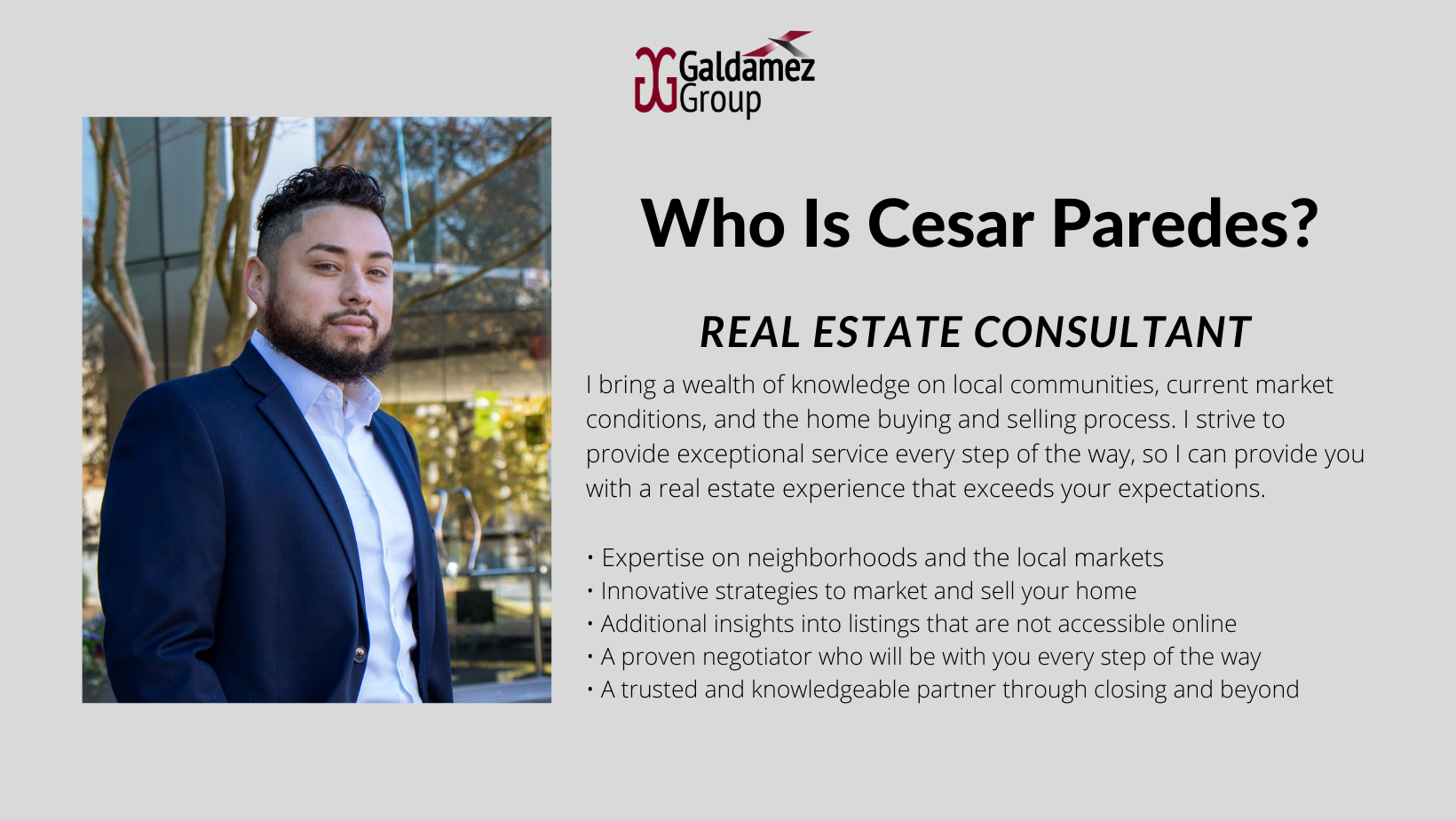 Cesar Paredes, Real Estate Consultant