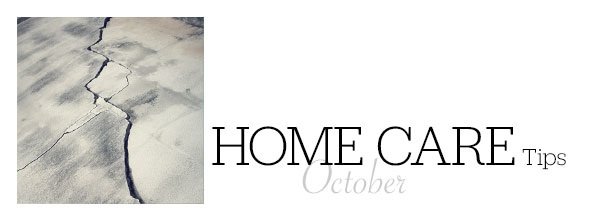 Home Care Tips October