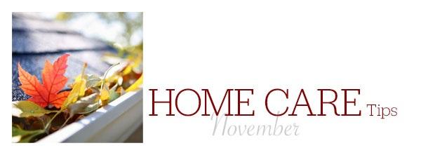 Home Care Tips November