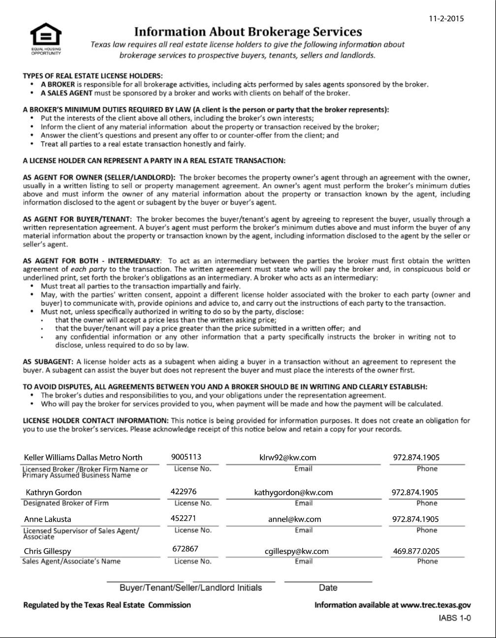 Completed TREC Form-14