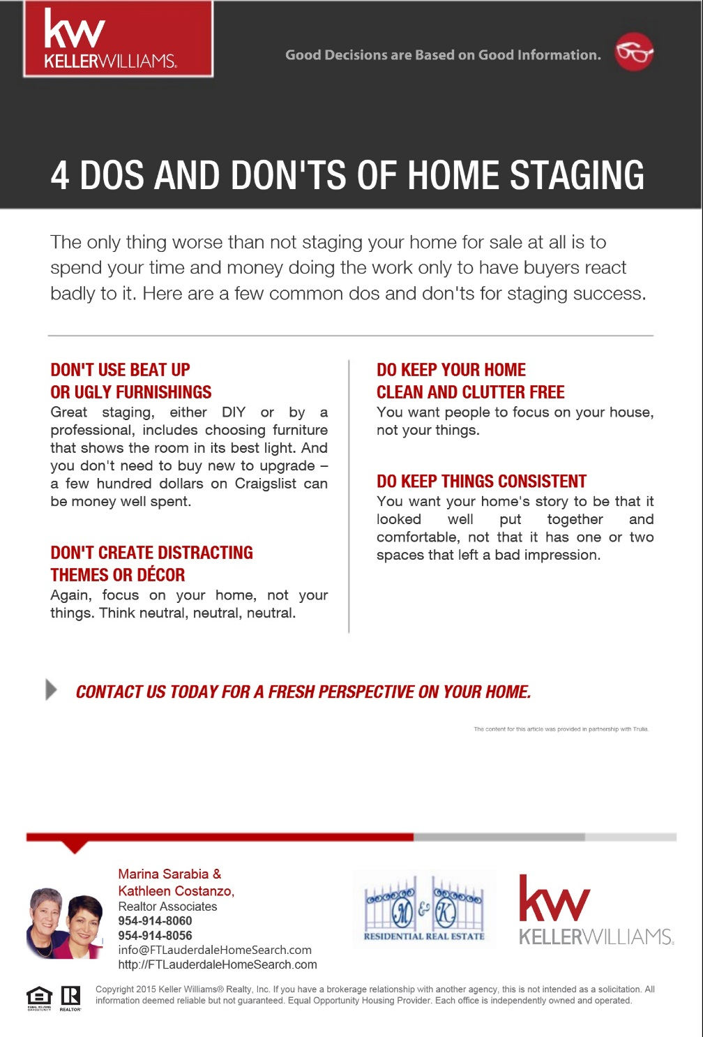 Good Information - Four Dos and Don'ts of Home Staging [Team]a